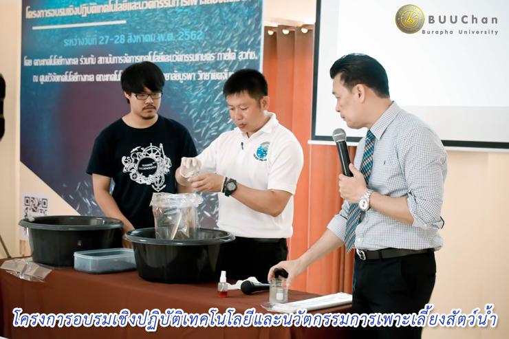 โครงการอบรมเชิงปฏิบัติเทคโนโลยีและนวัตกรรมการเพาะเลี้ยงสัตว์น้ำ