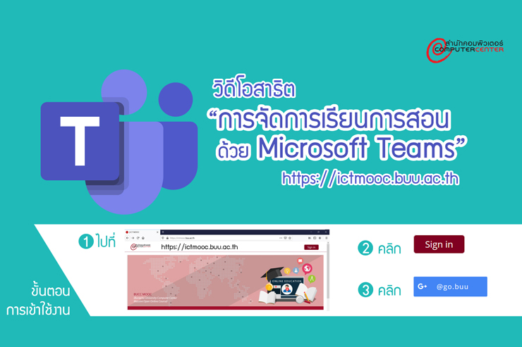 การจัดการเรียนการสอนด้วย Microsoft Teams
