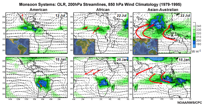 monsoon systems olr 200hpa streamlines 850 hpa wind climatology 1979 1995